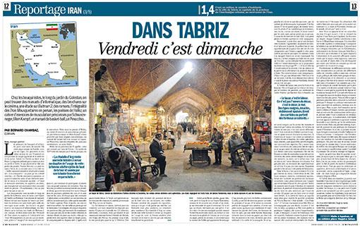 L'Humanité : Dans Tabriz, vendredi c'est dimanche