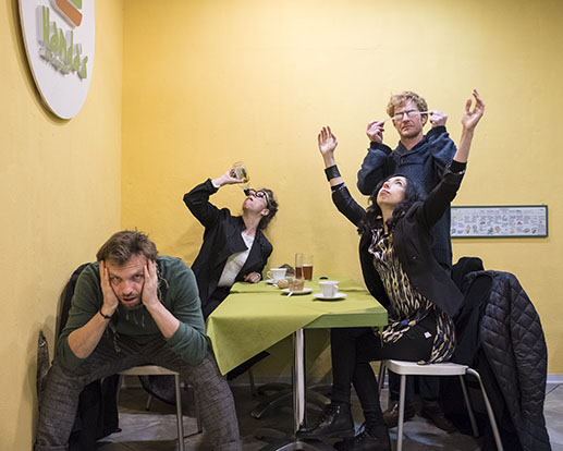 With Carla Erdmann, Viktoria Sorochinski and Krzysztof Candrowicz, Lucca, Italy
