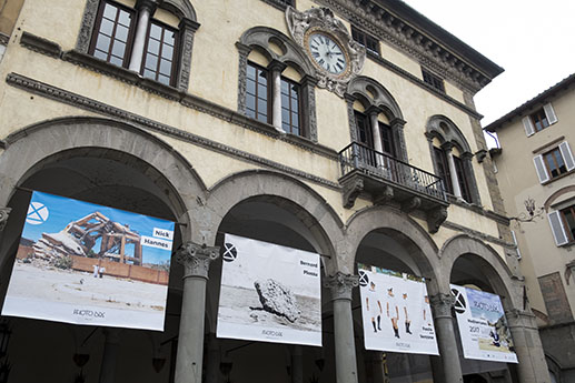 Banner with my photograph 'Sirte, Libya, 2013' in Lucca